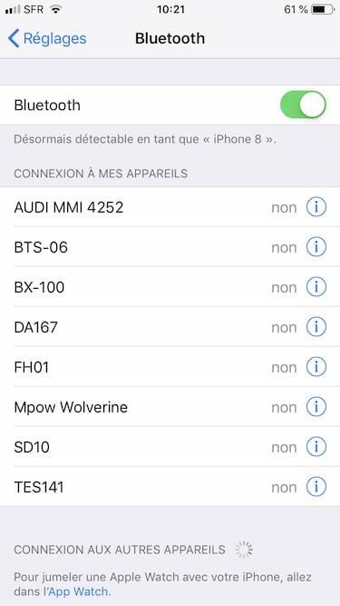 Conectar un dispositivo Bluetooth al iPhone, iPad, iPod (auriculares, altavoz) 2