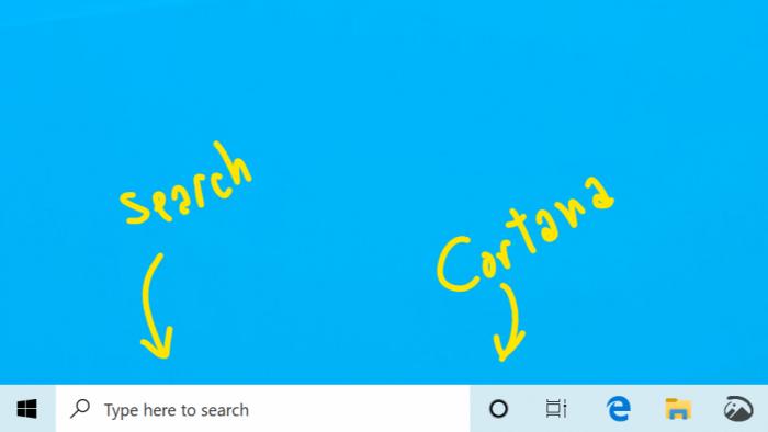 Microsoft separa Cortana de la barra de búsqueda en Windows 10 1