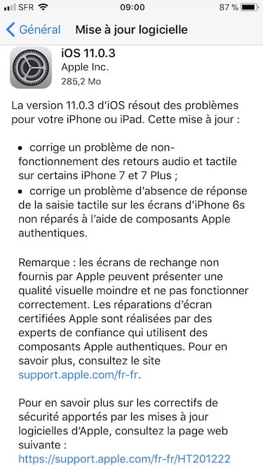 iOS 11.0.3 disponible para iPhone, iPad y iPod touch 2