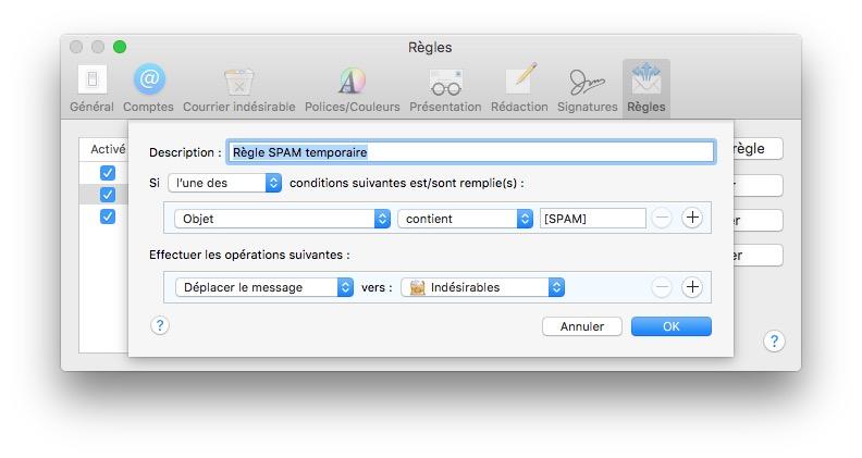 Gestiona el spam en Mac con Apple Mail 4