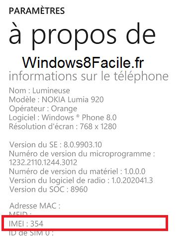 Windows Phone: muestra el número IMEI del smartphone 5