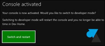 Xbox One: activa el Modo de Desarrollador 6