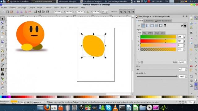 Inkscape, dibuja un carácter simple. 4