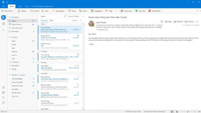 Outlook para Windows y Mac adquirirá un nuevo aspecto 1