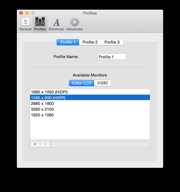 MacBook Pro Retina: cambia rápidamente la resolución de la pantalla 4