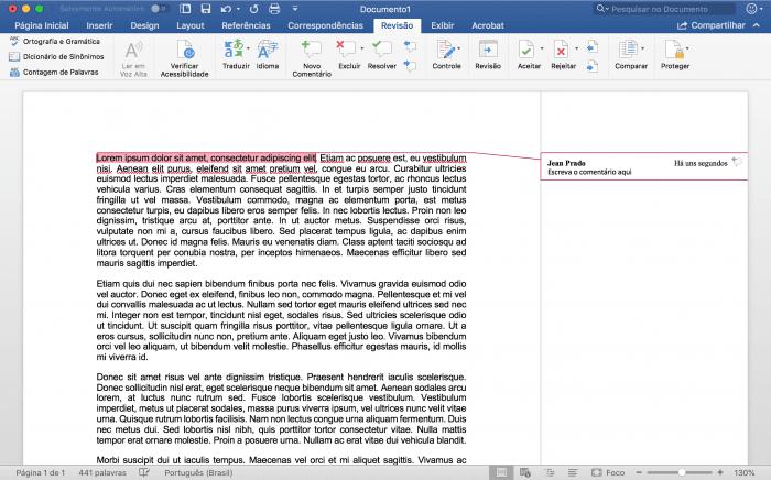 Inserción o eliminación de comentarios en un documento de Microsoft Word
