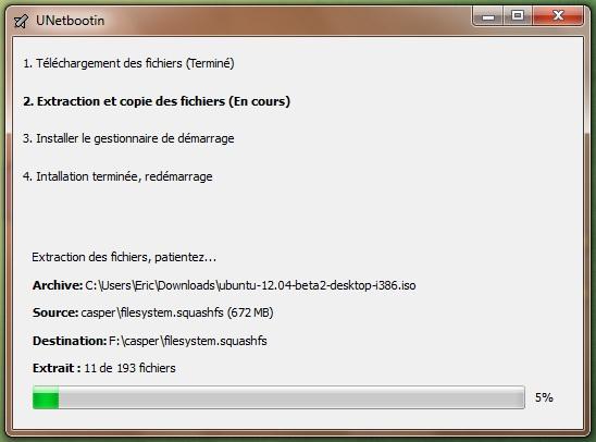 UnetBootIn para iniciar su distribución desde una llave USB 7