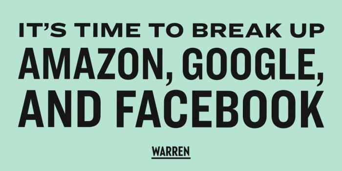 El plan del senador estadounidense que quiere dividir Amazon, Apple, Facebook y Google