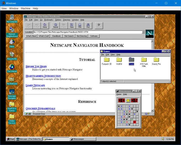 Windows 95 v2.0 tiene Doom, Netscape, soporte de audio y más 2
