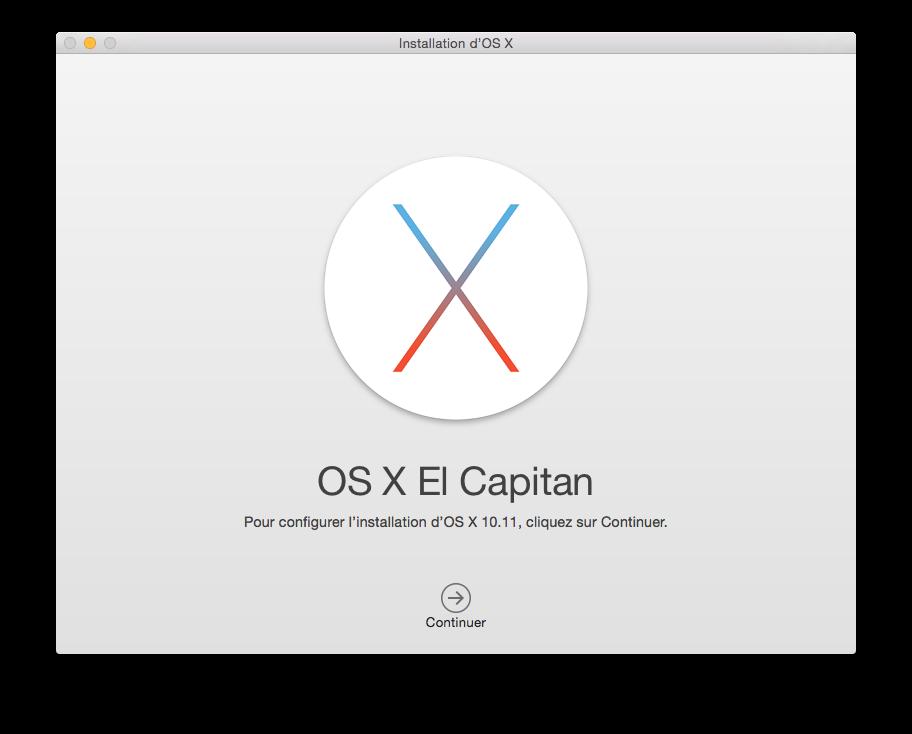 Instalación limpia de Mac OS X El Capitan (10.11) 2