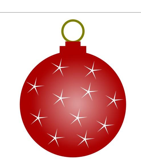 Cómo dibujar una pelota de Navidad con Inkscape 15