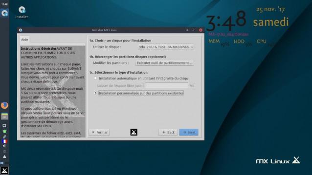 Instalé MX Linux 17 Beta 2 3