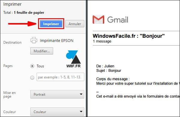 Gmail: imprimir un mensaje 3