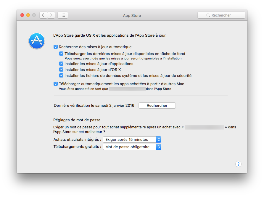 Mac App Store: configuración bajo OS X El Capitan (10.11) 2
