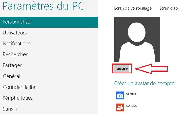 Cambiar el avatar de la cuenta de Windows 8 / RT 4