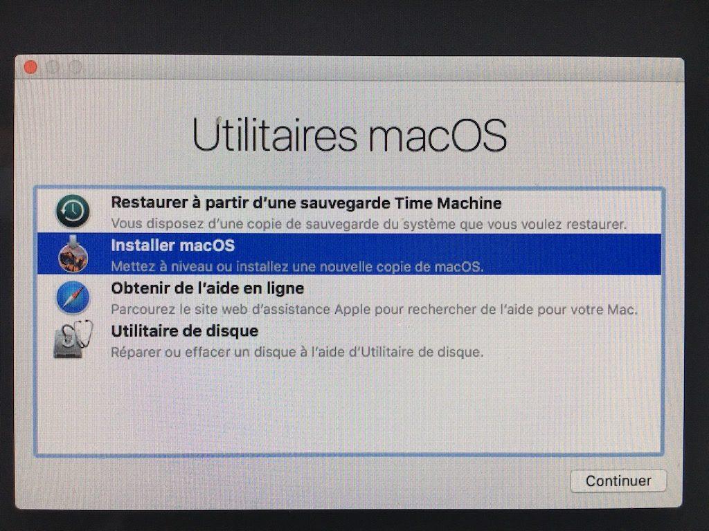 Descenso de macOS High Sierra (10.13) a macOS Sierra (10.12) 7