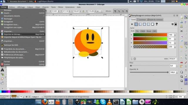 Inkscape, dibuja un carácter simple. 12