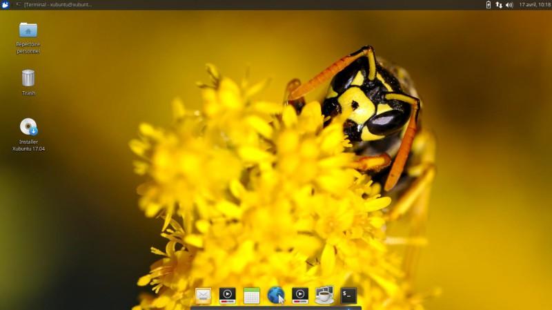 Xubuntu 17.04 para probar en una llave USB o DVD 9