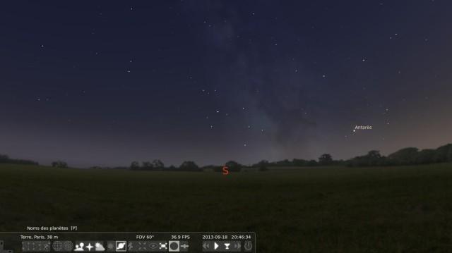 Cabeza en las estrellas con Stellarium 3