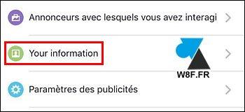 Facebook móvil: desactivar el seguimiento de anuncios 5