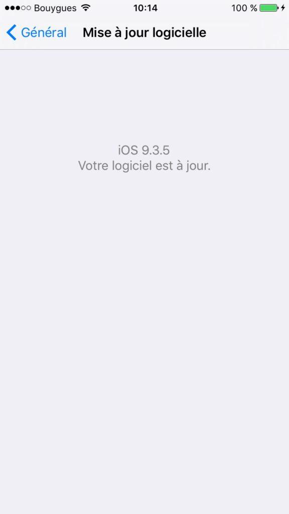 iOS 9.3.5 : actualización para iPhone, iPad, iPod touch 2