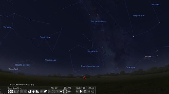 Cabeza en las estrellas con Stellarium 7