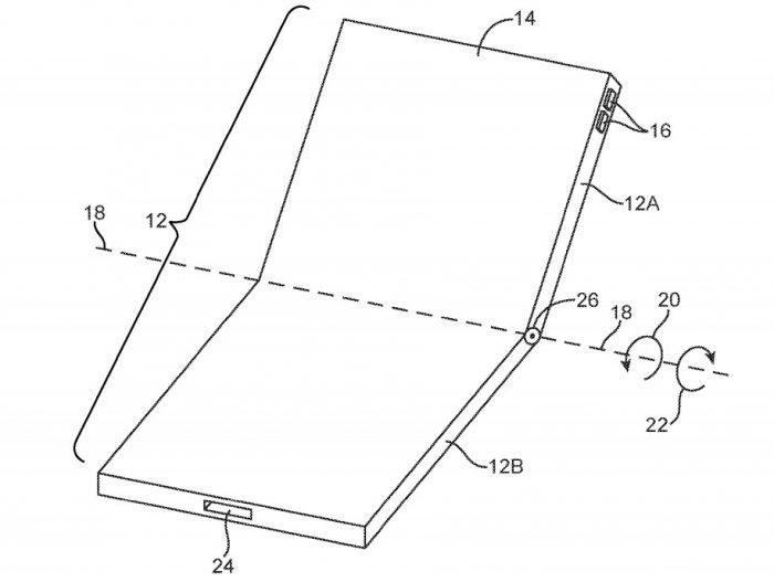 Apple Records Diseño de teléfonos móviles plegables