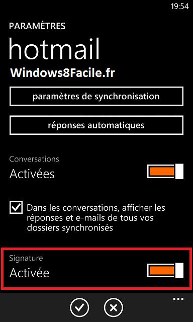 Windows Phone: desactivar la firma automática en los correos electrónicos 5