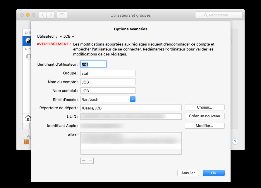 Cambiar el nombre de la cuenta del MacBook 5