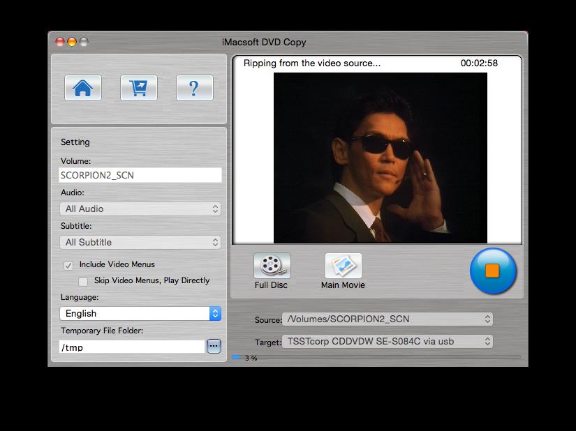Cómo copiar un DVD de vídeo a Yosemite (Mac OSX 10.10) 5