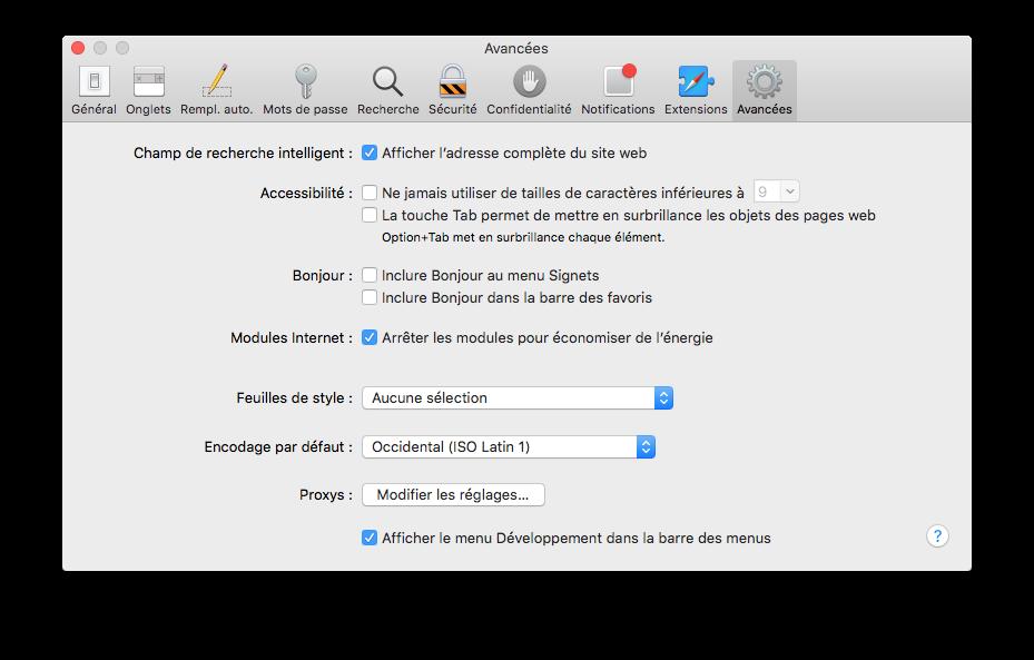 Borrar la caché de Safari Mac OS X El Capitan (10.11) 1