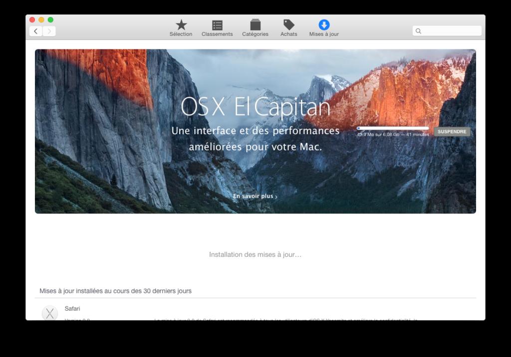 Instalación limpia de Mac OS X El Capitan (10.11) 1