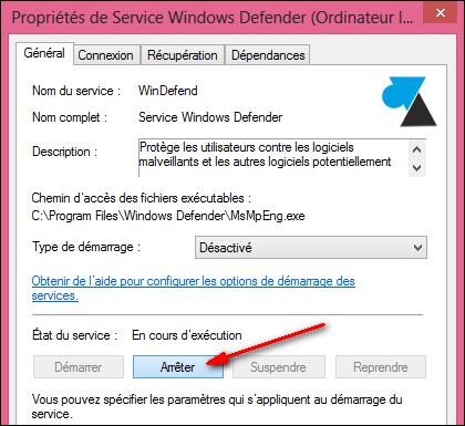 Habilitar y deshabilitar el antivirus integrado en Windows 8 9