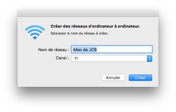 Crear una red WiFi en Mac OS X El Capitan para invitados (ad hoc) 2
