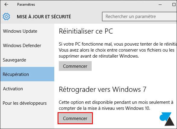 Cancelar la actualización de Windows 10 y volver a Windows 7 4