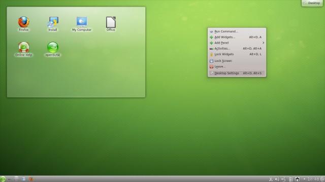 Cambiar el fondo de pantalla de OpenSuse 12.2 Kde 1