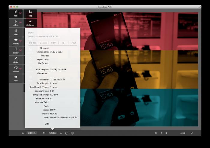 Autodesk Pixlr es un editor de fotos fácil de usar para Windows y OS X. 1