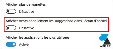 Windows 10: Desactivar la publicidad en el menú Inicio 4