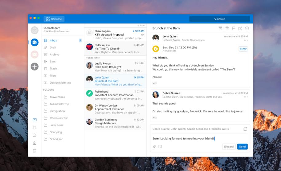 Outlook para Windows y Mac adquirirá un nuevo aspecto 2