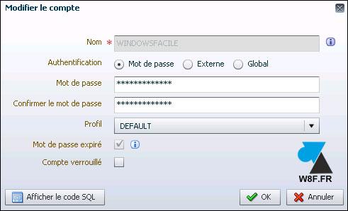 Oracle 12c : reactivar una cuenta vencida 5