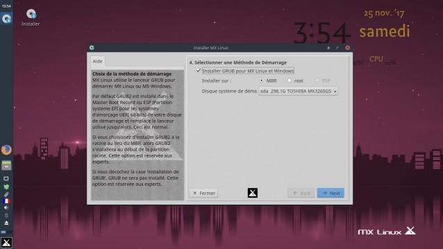 Instalé MX Linux 17 Beta 2 7