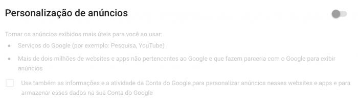 Evitar compartir su información personal con Google 3