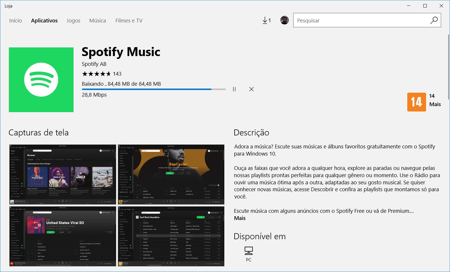 Spotify lanza el cliente de escritorio en Windows 10 Store