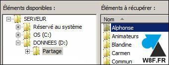 Restaurar un archivo con la herramienta Copia de seguridad de Windows Server 6