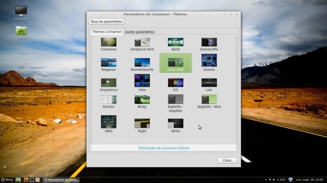 Modificar el tema del menú y la barra de tareas de Linux Mint Maya Cinnamon Mint 4