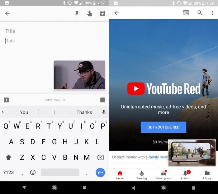 YouTube está lanzando una imagen en modo imagen en Android para más usuarios 1