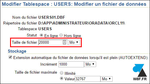 Oracle 11g: ampliar un tablespace 5