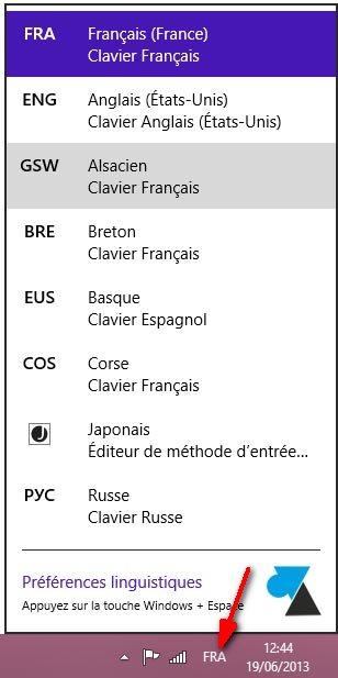 Cambio del idioma del teclado en Windows 7