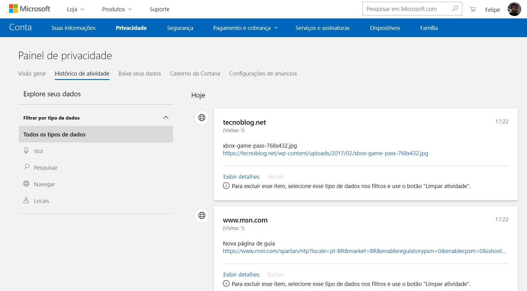 Windows 10 muestra los datos que Microsoft recopila en segundo plano. 3