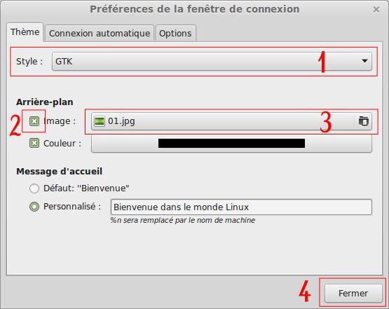 Cómo cambiar el fondo de pantalla de inicio de sesión de Linux Mint 4